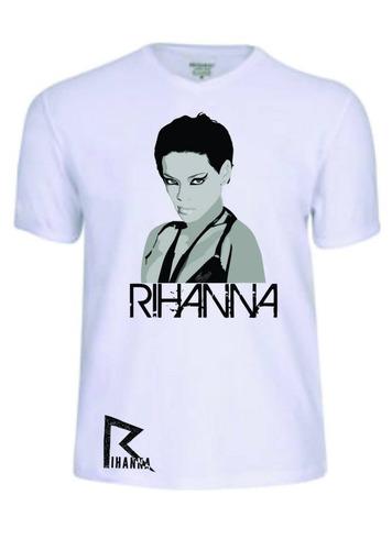 camisas camisetas rihanna cantor banda baby look rock pop b&