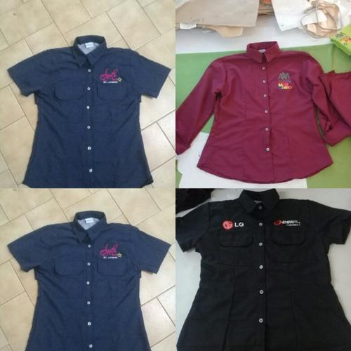 camisas chemises bordado digital  jeans uniformes