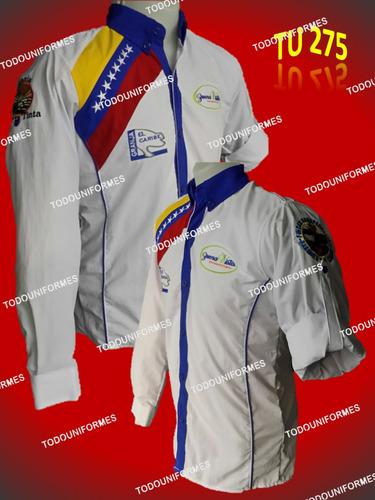 camisas columbia mang/larga unicolor uniformes (fabricantes)