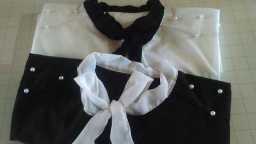 camisas con lazo al por mayor. pack por 5 unidades