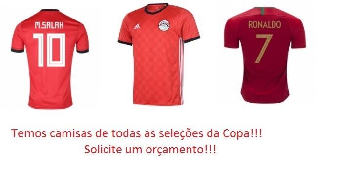 Camisas Copa Do Mundo - Todas As Seleções - Frete Grátis - R  149 3e40fa42decf6