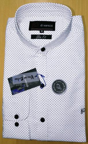 camisas cuello mao slim fit estampada lunares combinaciones