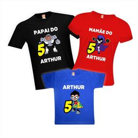 37aeeff8a5 Camisas De Aniversário Jovens Titãs Em Ação - Teen Titans
