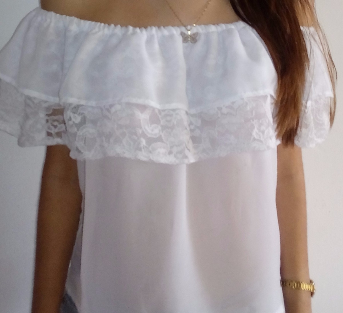 Camisas De Chifon Joroperas Hombros Ca 237 Dos Bs 75 000