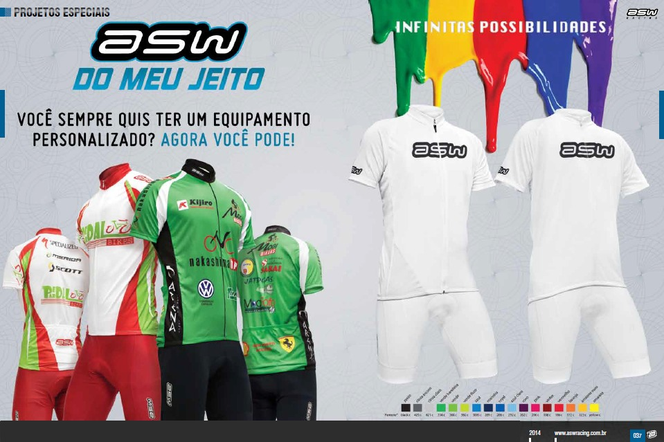 49eee0ffdcdfc Camisas De Ciclismo Padronizada Para Grupos - Asw - R  154,90 em ...