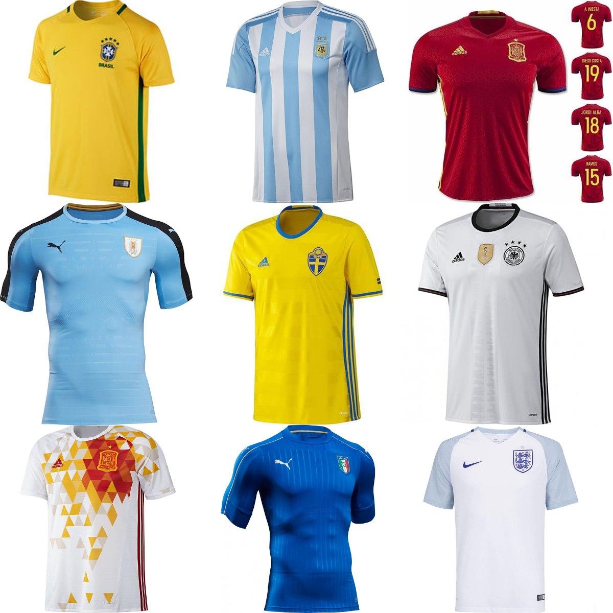 e6b15b640f Camisas De Clubes Europeus E Seleções - Frete Grátis Brasil - R  119 ...