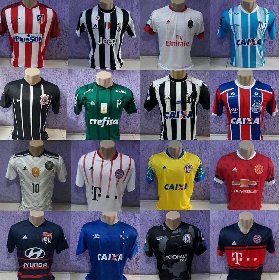 Camisas De Futebol Times Brasileiros Europeus Seleções 2018 - R  39 ... bfbef9cb9f7cf