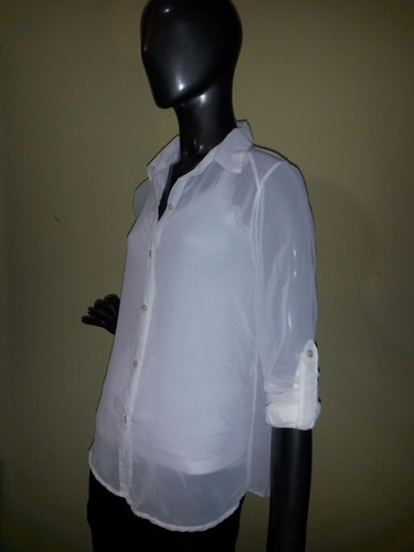camisas de gasa - doble uso: m. larga ò  mangas 3/4