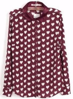 camisas de gasa estampado corazones-importadas!!!!