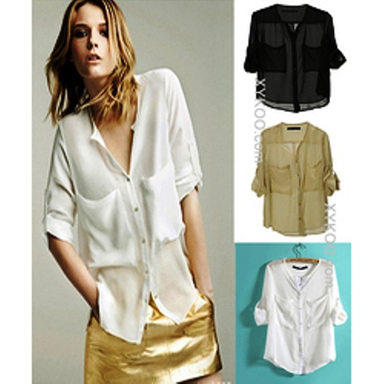 b754c53e Camisas De Gasa Mujer Del Xs Al 6xl Talles Grandes - $ 528,00 en ...