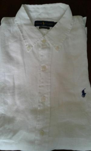 camisas de lino polo talla m y l