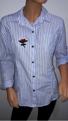 camisas de mujer a rallas