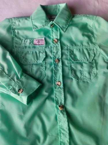 camisas de niño estilo columbia manga larga