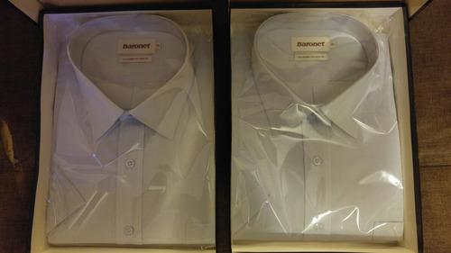 camisas de vestir baronet manga corta (varios colores)