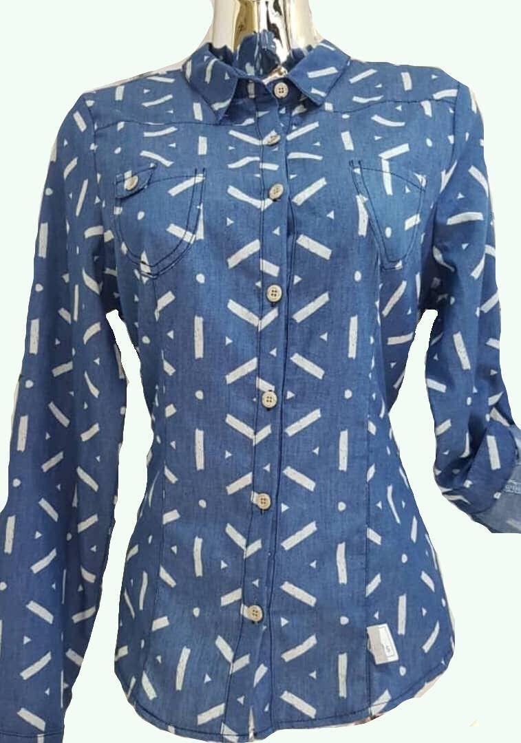 30bb41e39 camisas de vestir para dama estampada talla s. Cargando zoom.
