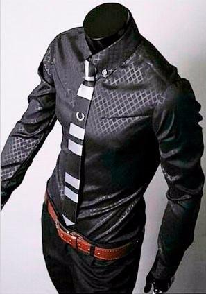 camisas diamond slim fit shirt moda japonesa al mejor precio