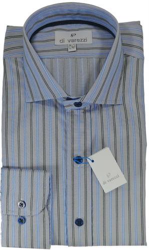 camisas elegante sport con festón en cartera de botón