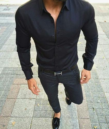 camisas entalladas elástizadas slim fit sublime for wo-man