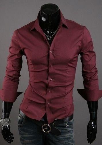 Para Fit Hombre De Diseño Entalladas Camisas Slim pSwq7PH4