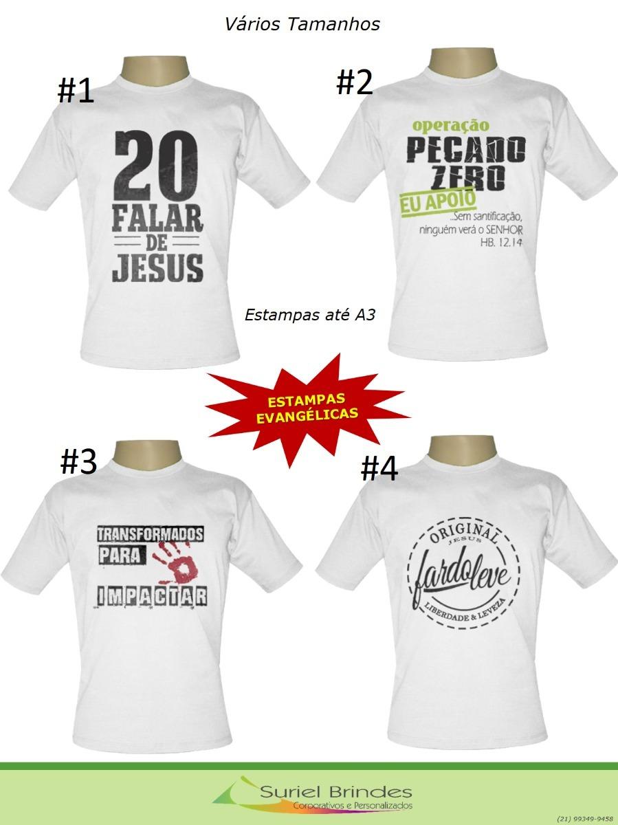 d19fd067a Camisas Estampas Evangélicas Kit 4 Unidades - R$ 100,00 em Mercado Livre