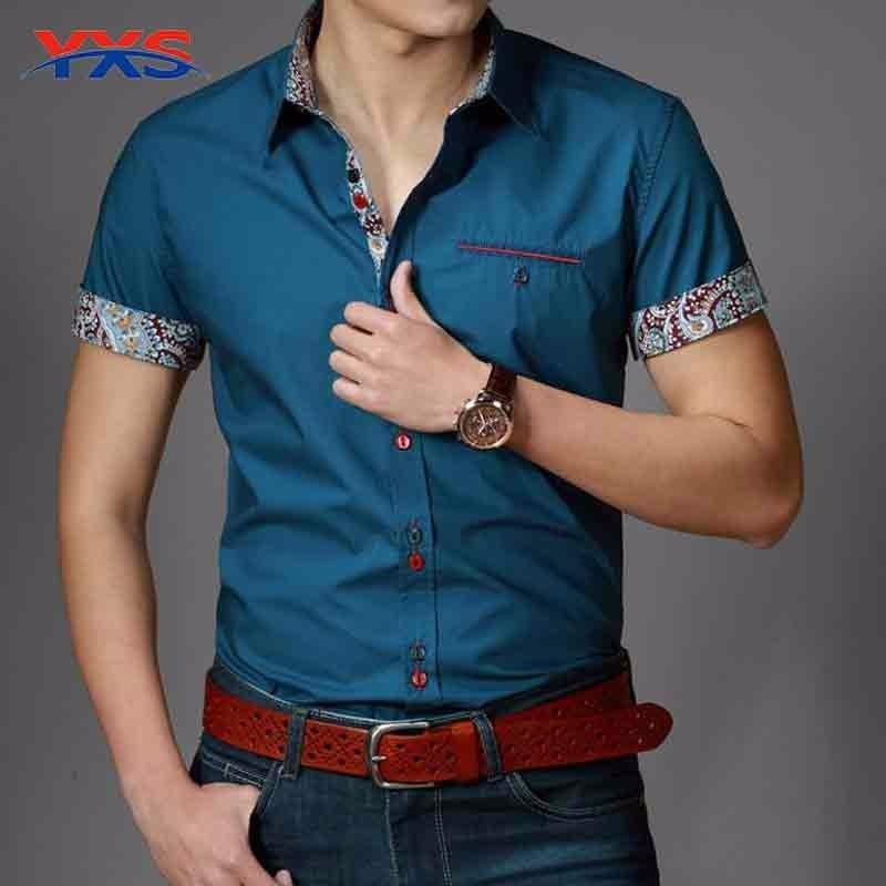 2016 nueva primavera algodón Camisas para hombre de alta