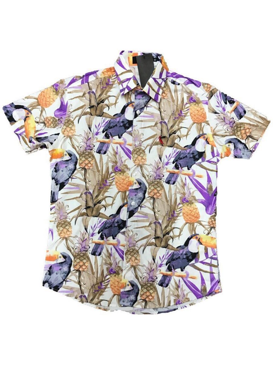 6c1f8d12811a0 camisas floral masculina 100% algodao manga curta. Carregando zoom.