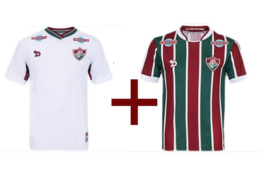 ad6e9cc3b0bf6 Kit Com 2 Camisas Do Fluminense Infantil Por R  99