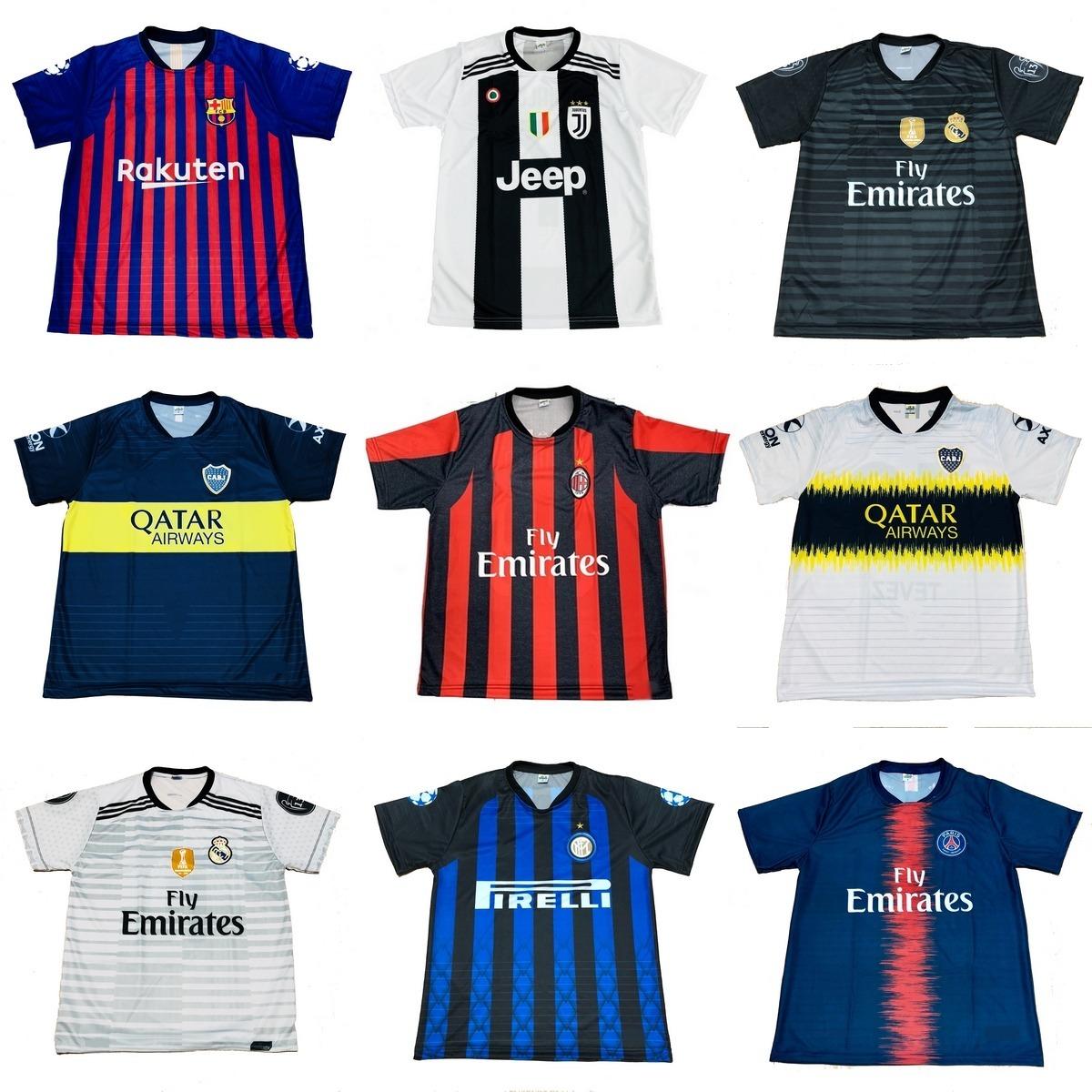 576ee36fb766d Kit Com 12 Camisetas De Time 2019 Camisas De Futebol Atacado - R ...