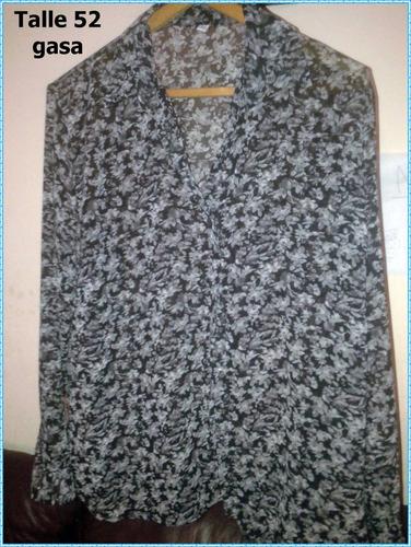 camisas gasa mangas largas 3/4 talles grandes sirenemoda