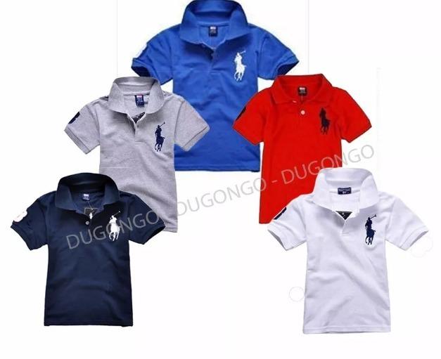 d2c71e11b8 Camisas Gola Polo Infantil Piquet Camisetas - R  39