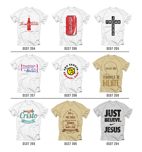 camisas gospel originais - kit com 25 unidades atacado