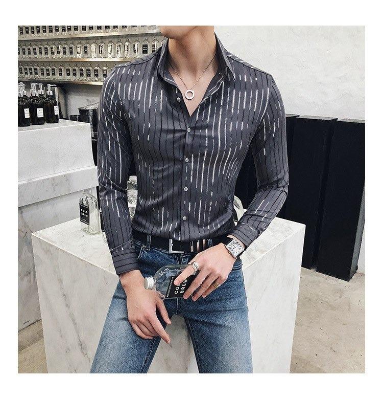ca2f208e50feb Camisas Hombre 2019 Verano-moda Traje Alta Calidad Juventud - S  115 ...