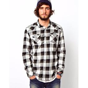 252116f5bd976 Camisa Ecko Cuadros Leñador Skate Rap Hip Hop Camiseta Origi - Ropa ...