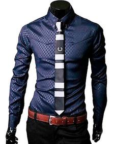 Camisas Hombre Camisa Vestir Caballero Slim Fit Casuales