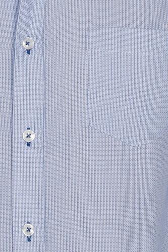 camisas hombre casual azul cielo slim fit moda vestir b90323