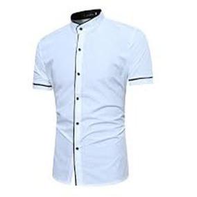7e2470f1f Camisas Slim Fit Cuello Mao O Normal Manga Corta Al Mayor
