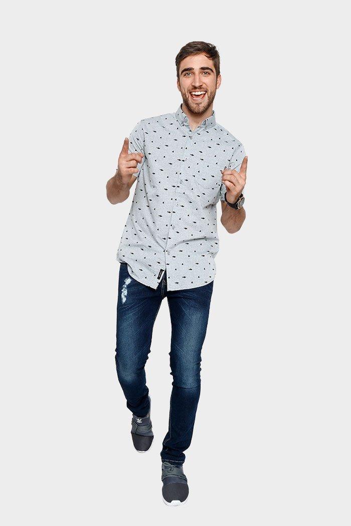 7d98247d2 camisas hombre vestir manga corta estampadas varios modelos. Cargando zoom.