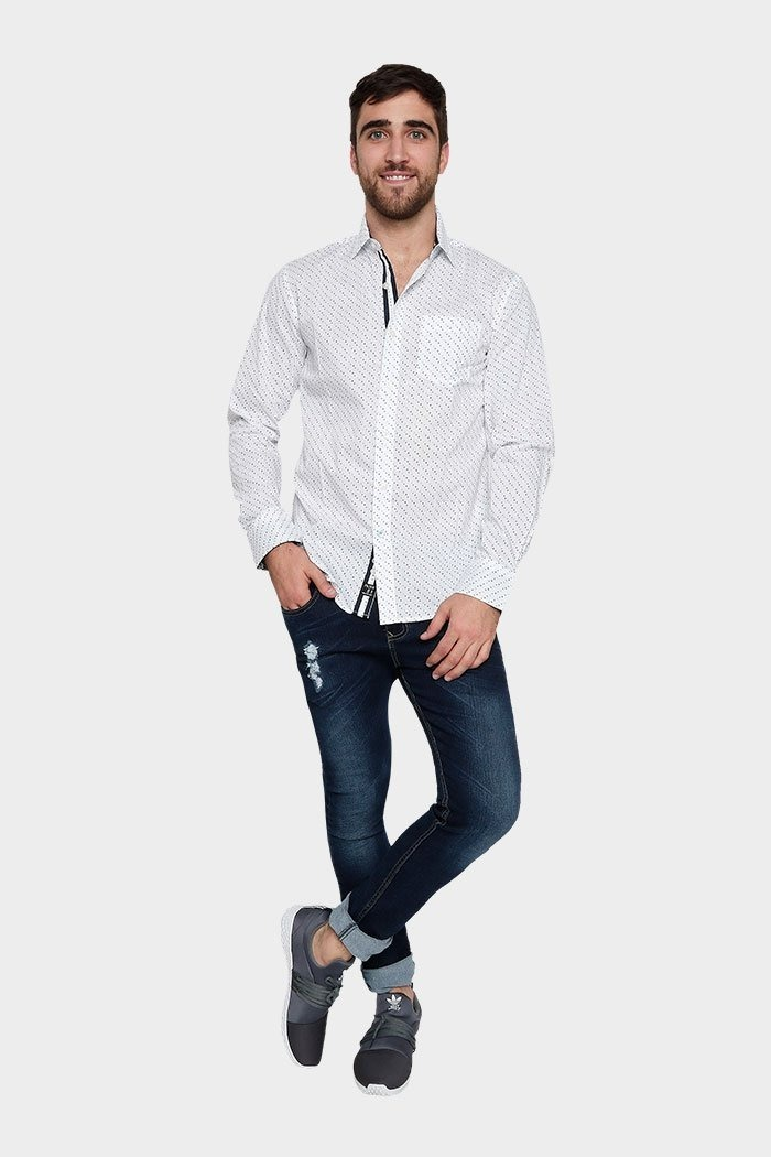 fb43373d0 camisas hombre vestir manga larga estampadas varios modelos. Cargando zoom.