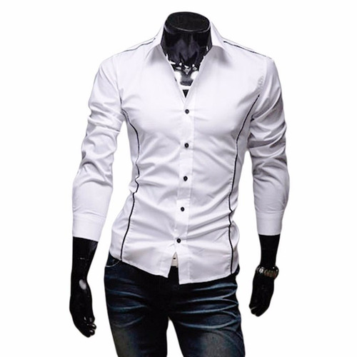 camisas hombre,camisa vestir caballero, slim fit ropa lote 5