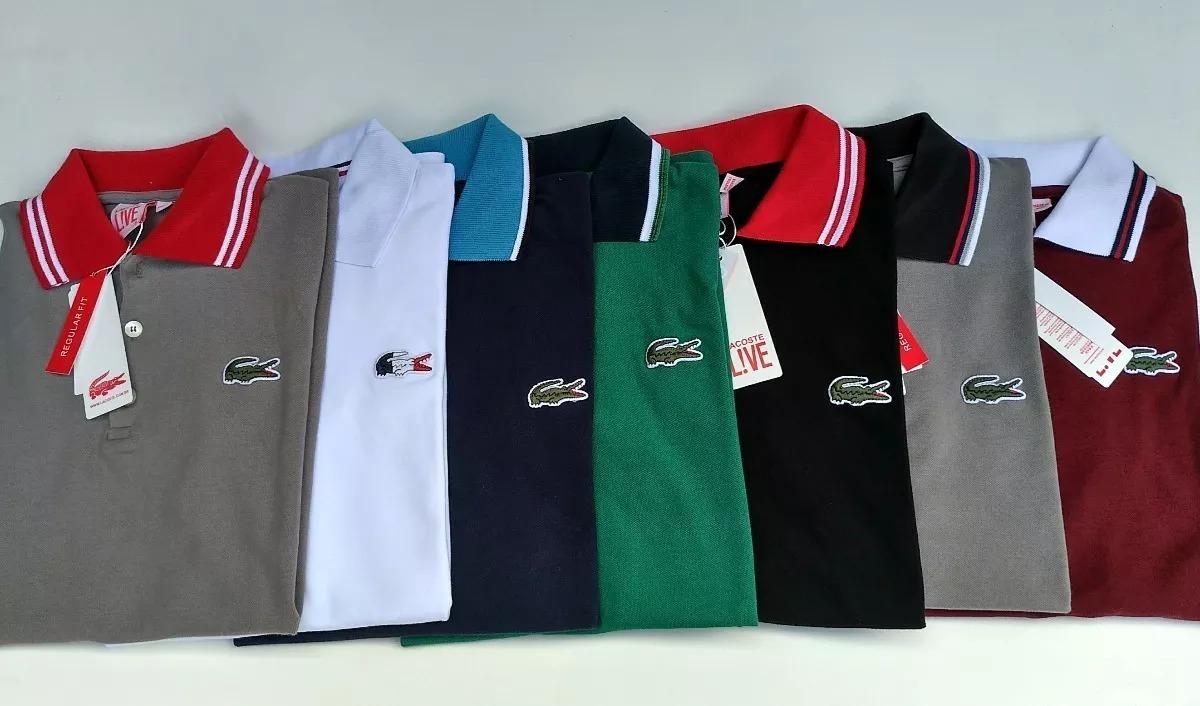 83b179f0a1f Camisas Importadas Polo Lacoste Peruanas Kit 30 Peças - R  1.560
