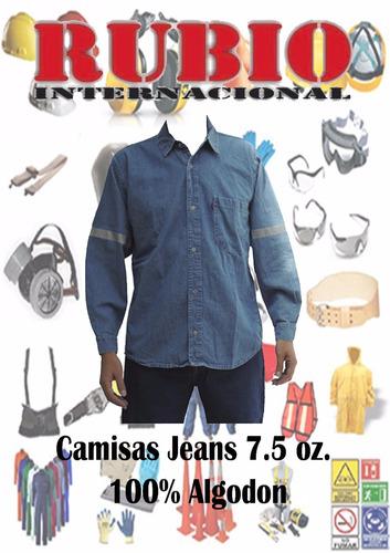 camisas jeans para trabajo
