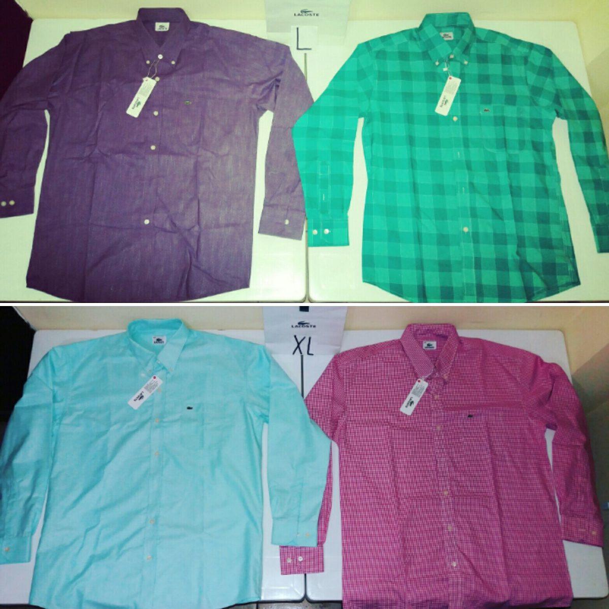 Camisas Largas Lacoste Modernas Originales Nuevas - U S 40,00 en ... 79cc38067e