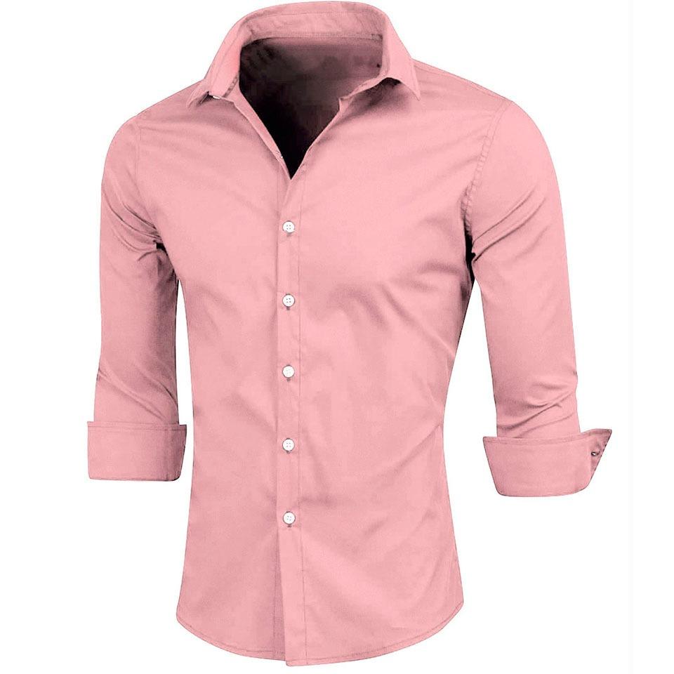 84f00f52e4b69 camisas lisas slimfit manga larga hombre camisa. Cargando zoom.