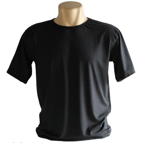 camisas  malha lisa  algodão 30.1- kit com 10 pçs
