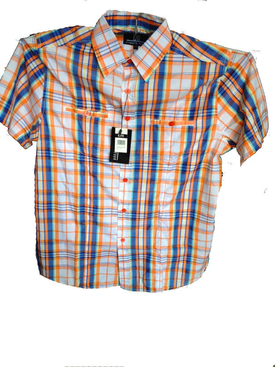 Camisas Manga Corta De Cuadros Para Caballeros Skate - Bs. 0 158064eca4bd5