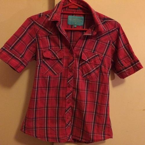 camisas manga corta mujer