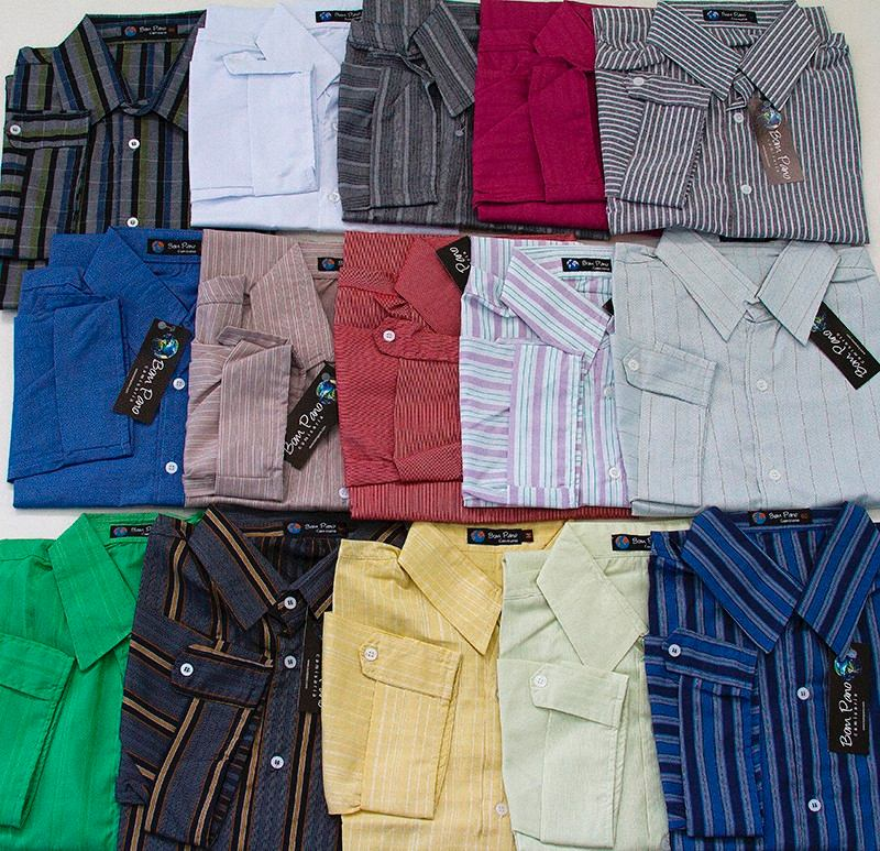 Kit C 10 Camisas Sociais Masculinas Manga Curta Revenda - R  343 0d356e56d5f20