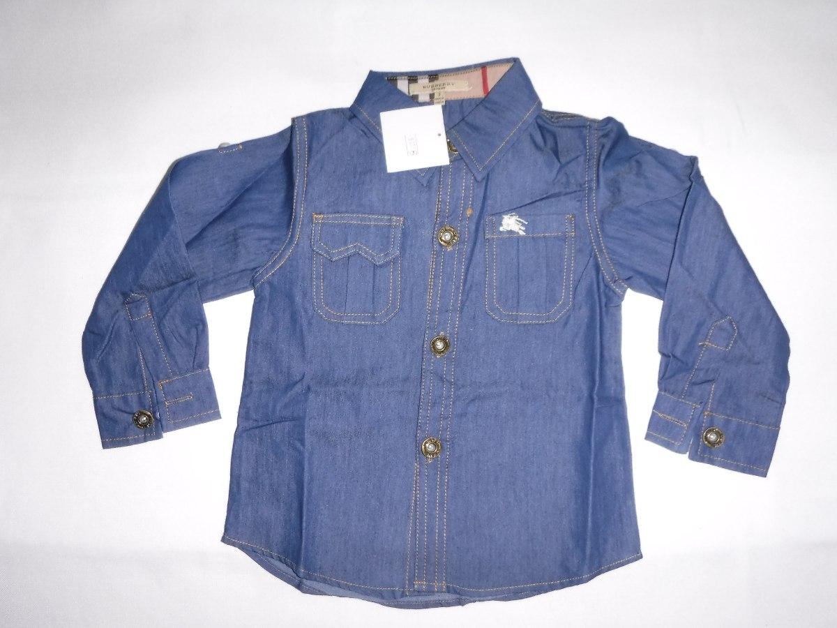 c2d90613c6df9 Camisas Jean Manga Larga Para Niños -   450