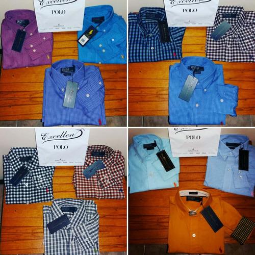 camisas manga larga polo ralph lauren nuevas y originales!!