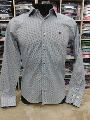 camisas masculina fio 80 slim fit lindas